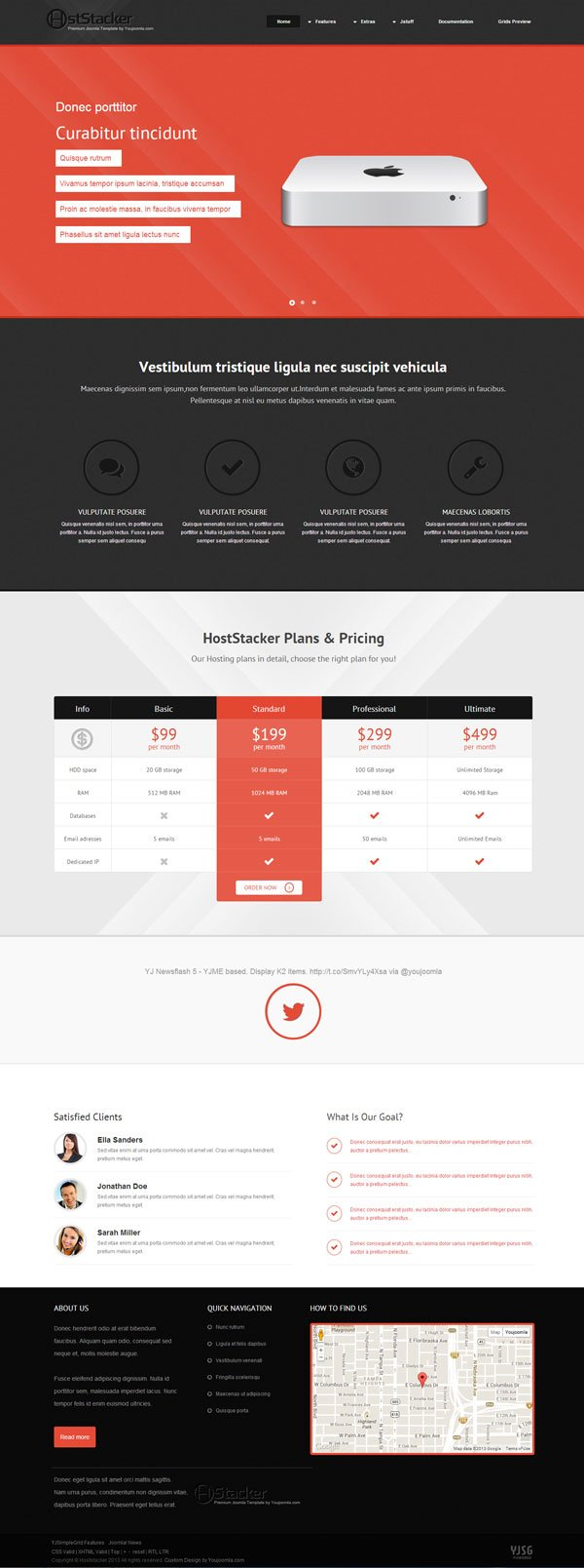 Hoststacker - Hosting Joomla Template