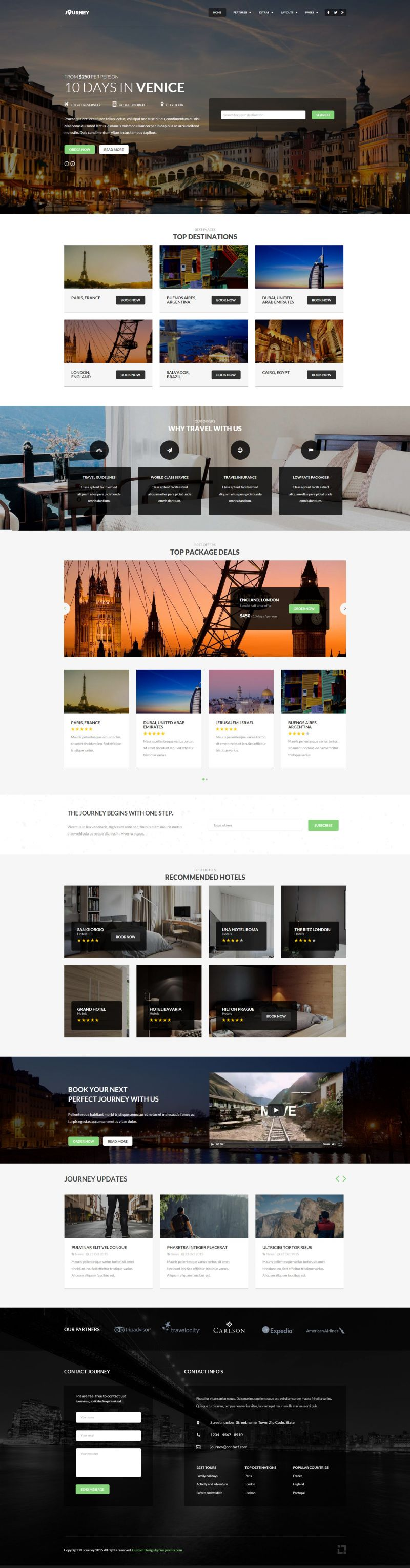 Journey - Joomla Travel Magazine Template