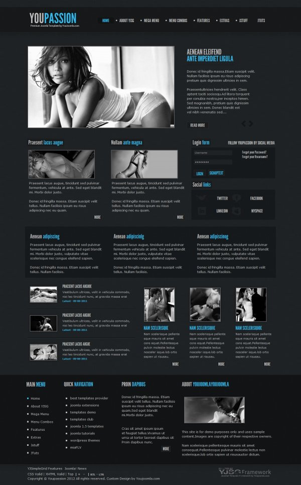 Youpassion - Blog Joomla Template