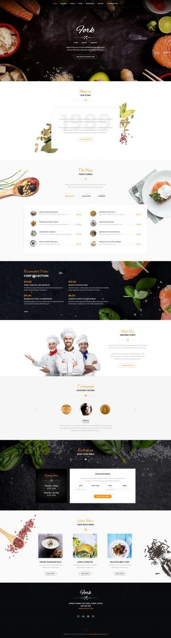 Fork - Restaurant Joomla Template