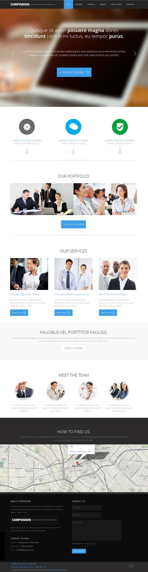 Slick Intuitive Corporate Joomla Template