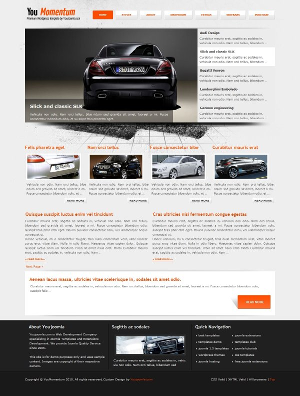 YouMomentum - Cars Wordpress Theme