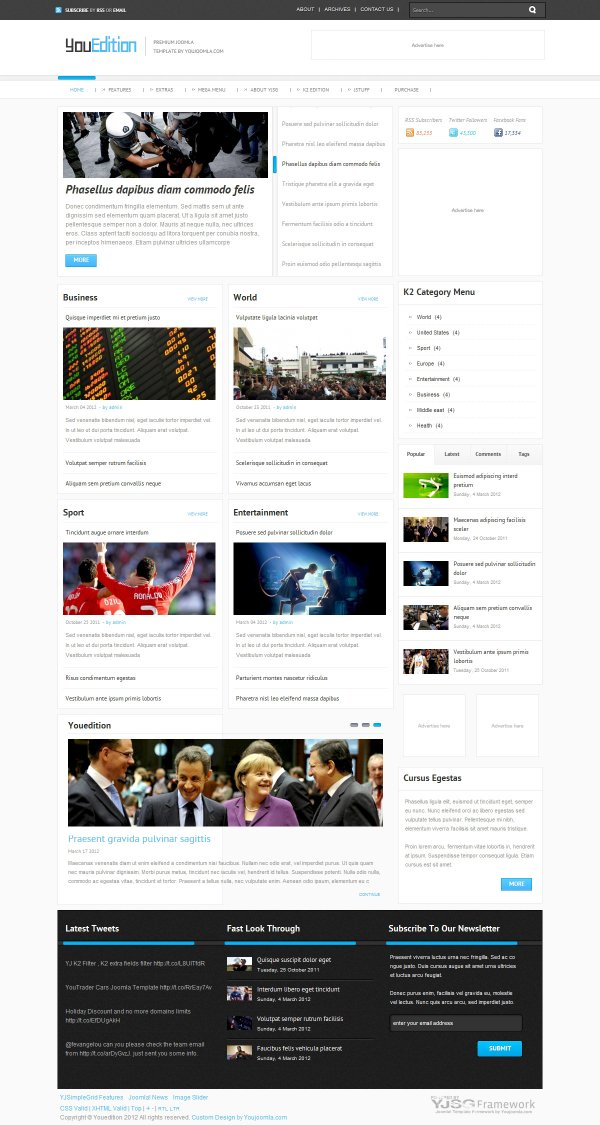 Youedition - Joomla! News Template