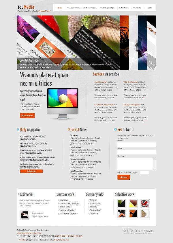 youmedia developer portfolio joomla template. Black Bedroom Furniture Sets. Home Design Ideas