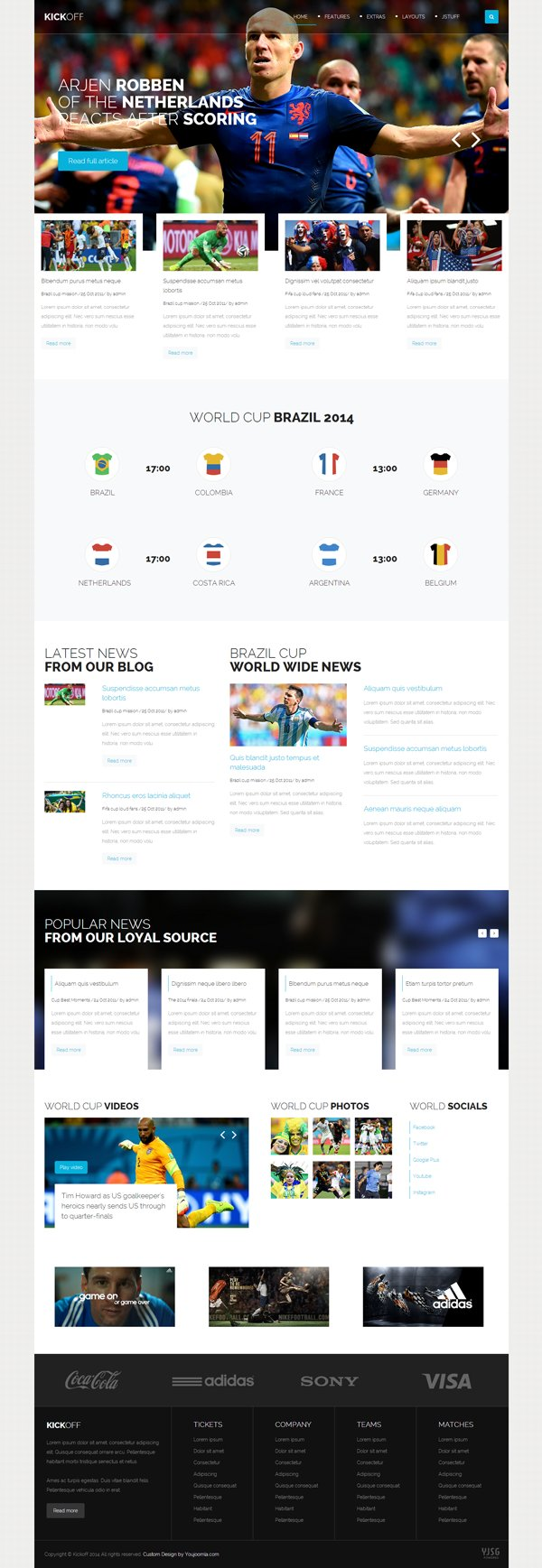 Kickoff - Joomla Sports Magazine Template