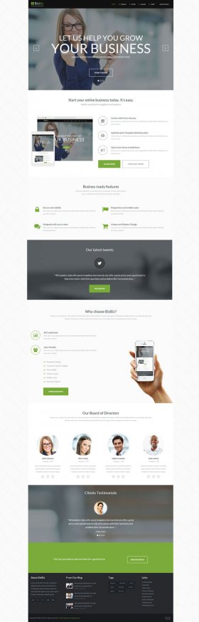 Bizbiz - Joomla Business Enterprise Template
