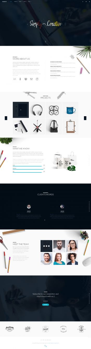 Teamspot - Creative agency Joomla Template