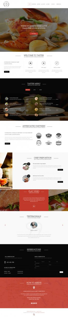 Taster - Joomla Restaurant Template